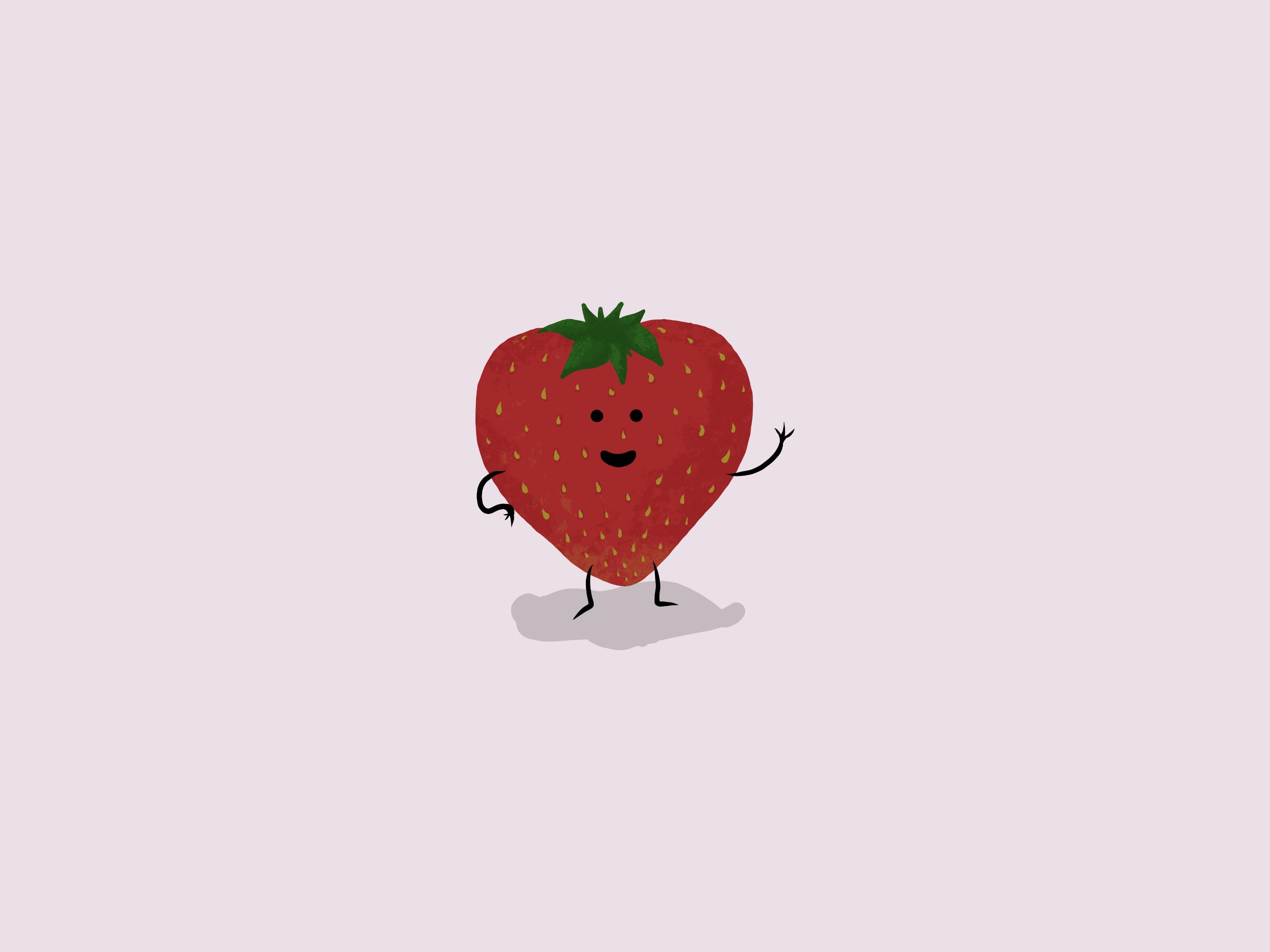 A Waving Strawberry