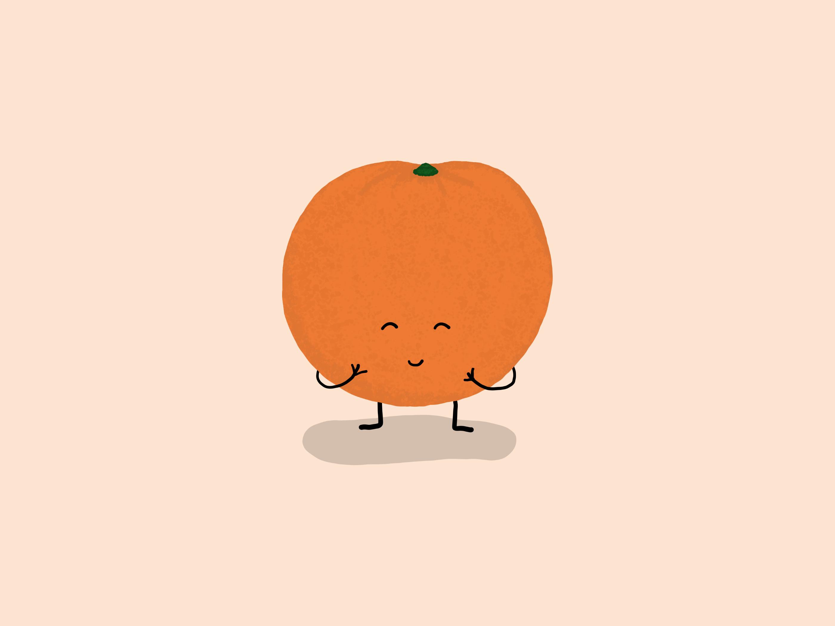 A Giggling Orange
