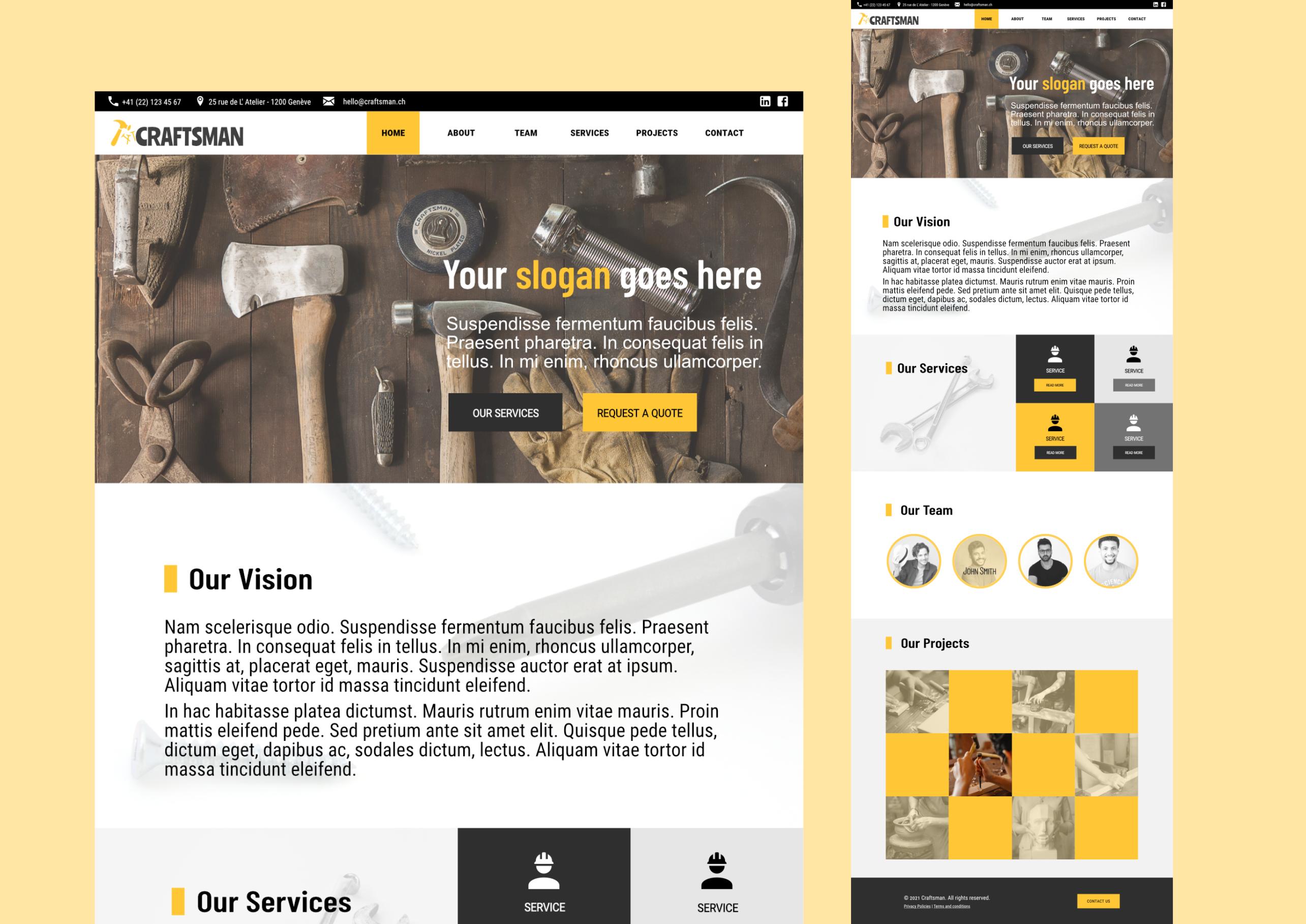 Craftman Services Conceptual Project